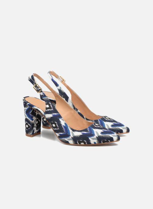High heels Made by SARENZA 90's Girls Gang Escarpins #4 Blue back view