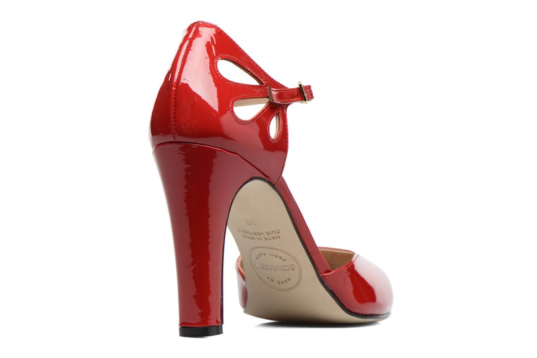 Høje hæle Made by SARENZA Rock-a-hula #5 Rød se forfra