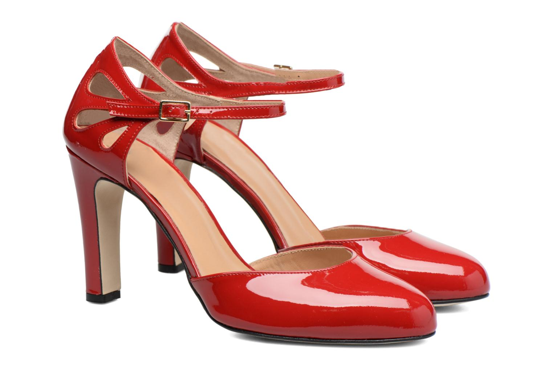 Høje hæle Made by SARENZA Rock-a-hula #5 Rød se bagfra
