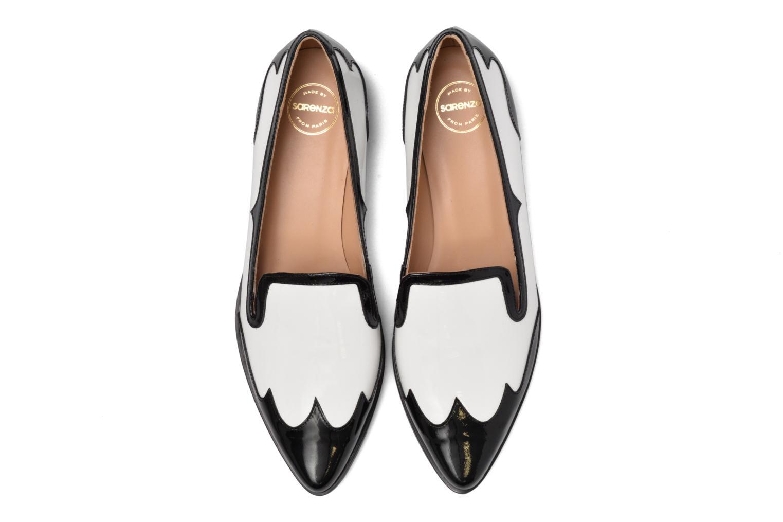 Mocassins Made by SARENZA Vegas Lipstick #1 Blanc vue portées chaussures