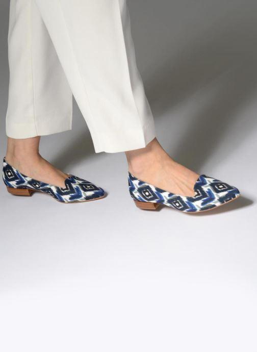 Slipper Made by SARENZA Bombay Babes Mocassins #1 blau ansicht von unten / tasche getragen