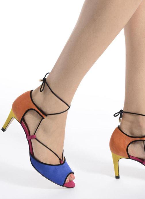 Sandales et nu-pieds Made by SARENZA Mexicoco #8 Multicolore vue bas / vue portée sac