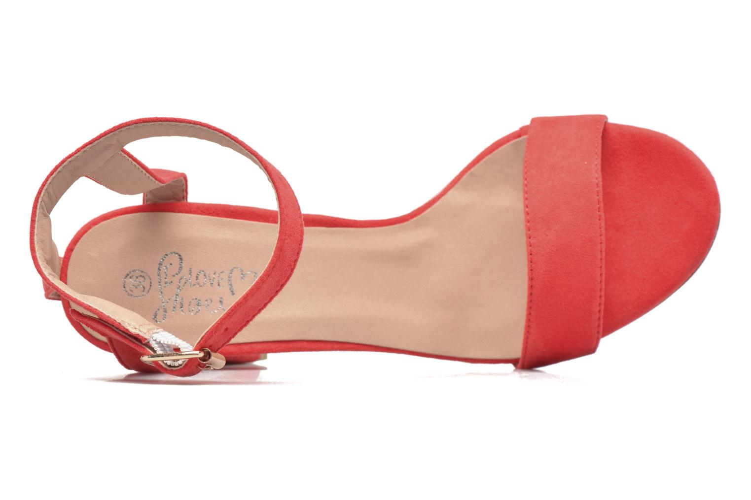 Sandalias I Love Shoes BELYZE Rojo vista lateral izquierda