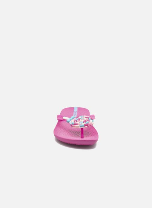 Chanclas Ipanema Summer Love Kids II Rosa vista del modelo
