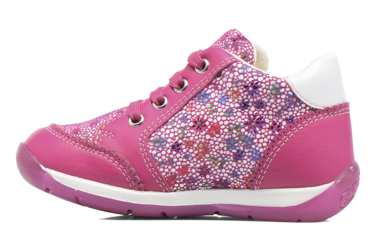 Chaussures à lacets Geox B Each G. C B720AC Rose vue face