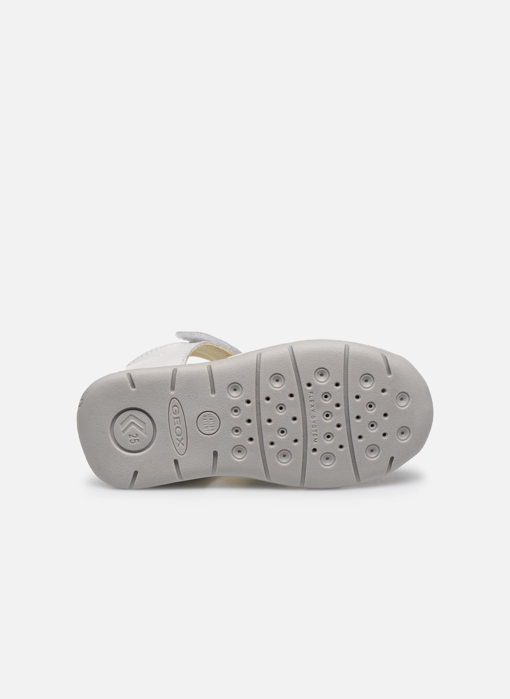 Sandales et nu-pieds Geox B Each G. E B720AE Blanc vue haut