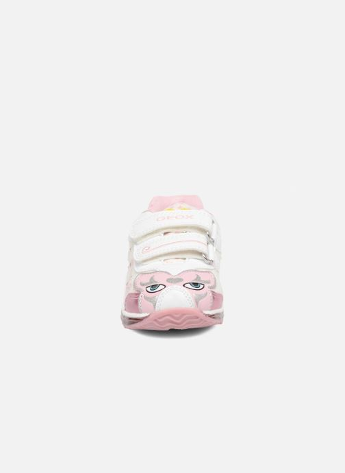 Baskets Geox B Todo G.B B7285B Blanc vue portées chaussures