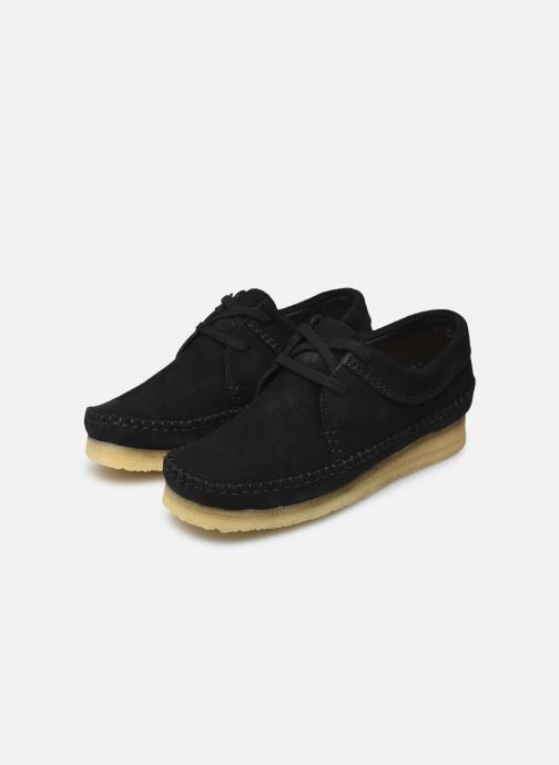 Lace-up shoes Clarks Originals Weaver W Black view from underneath / model view
