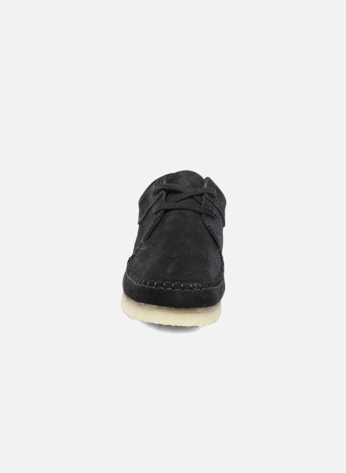 Chaussures à lacets Clarks Originals Weaver W Noir vue portées chaussures