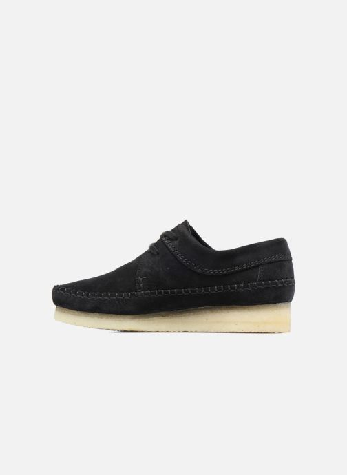 Chaussures à lacets Clarks Originals Weaver W Noir vue face