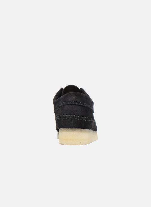 Zapatos con cordones Clarks Originals Weaver W Negro vista lateral derecha