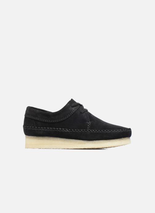 Chaussures à lacets Clarks Originals Weaver W Noir vue derrière