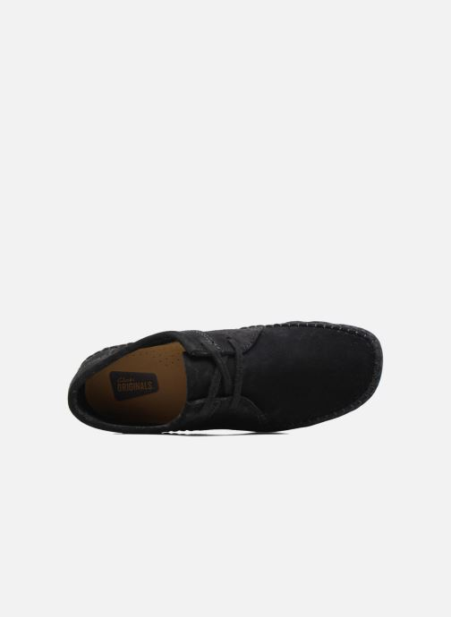 Lace-up shoes Clarks Originals Weaver W Black view from the left