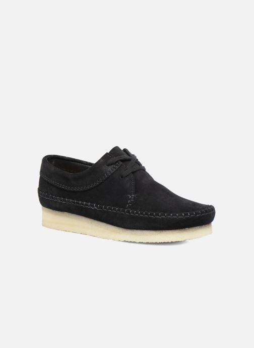 Snøresko Clarks Originals Weaver W Sort detaljeret billede af skoene