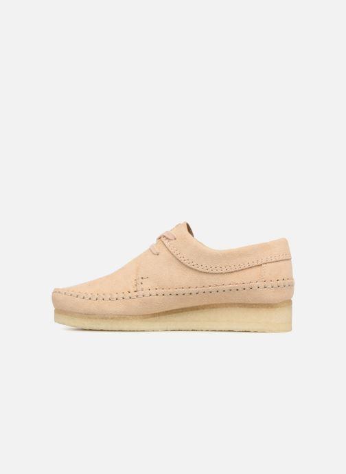 Chaussures à lacets Clarks Originals Weaver W Beige vue face