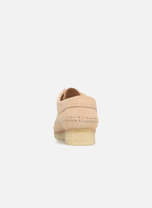 Chaussures à lacets Clarks Originals Weaver W Beige vue droite