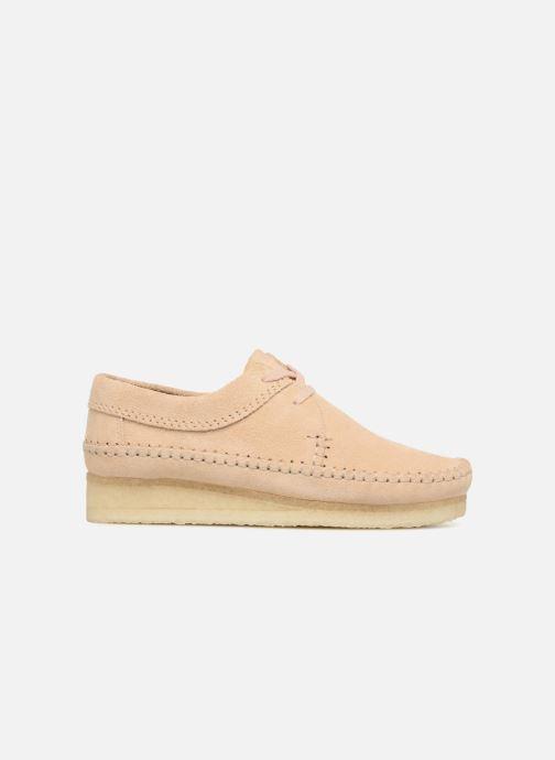 Chaussures à lacets Clarks Originals Weaver W Beige vue derrière