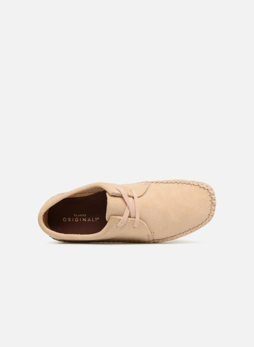 Chaussures à lacets Clarks Originals Weaver W Beige vue gauche