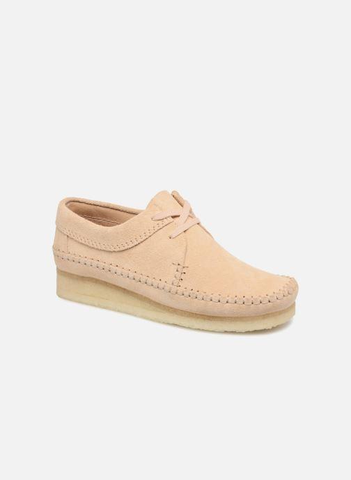 Chaussures à lacets Clarks Originals Weaver W Beige vue détail/paire