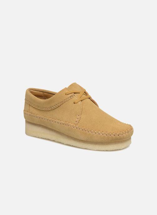 Chaussures à lacets Clarks Originals Weaver W Marron vue détail/paire