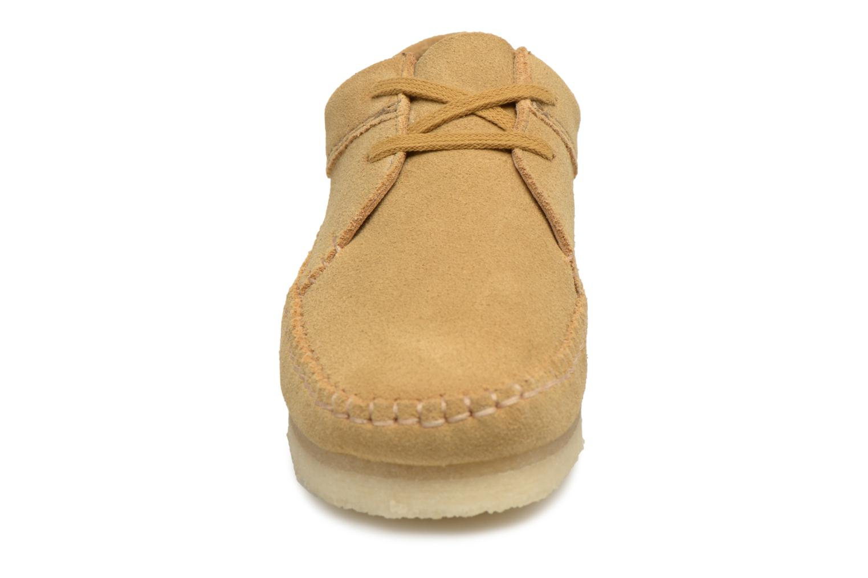Chaussures à lacets Clarks Originals Weaver W Marron vue portées chaussures