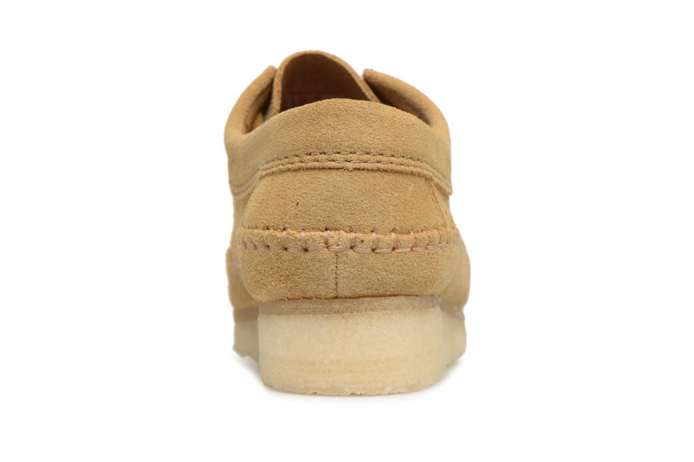 Chaussures à lacets Clarks Originals Weaver W Marron vue droite