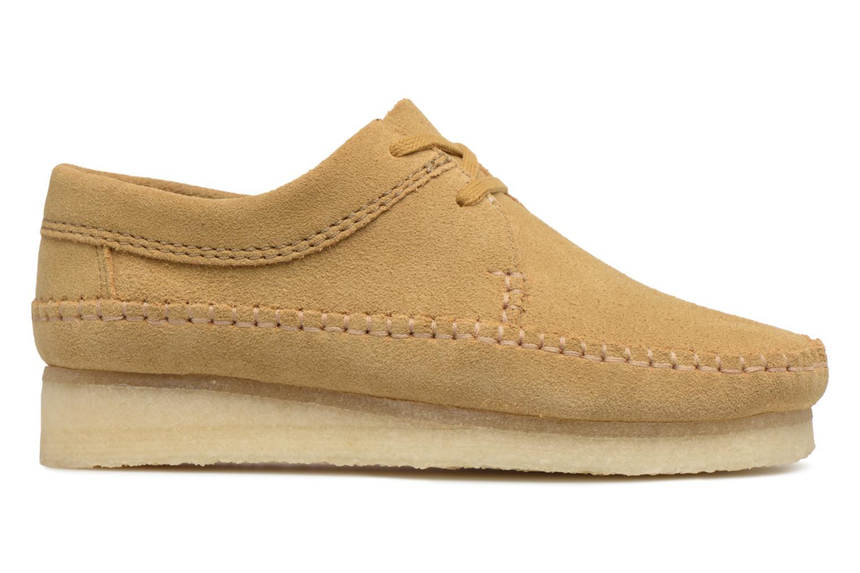 Chaussures à lacets Clarks Originals Weaver W Marron vue derrière
