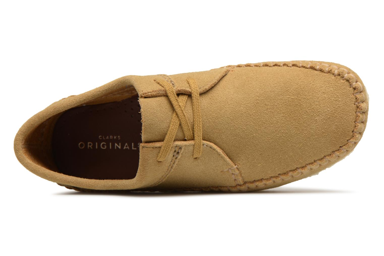 Chaussures à lacets Clarks Originals Weaver W Marron vue gauche