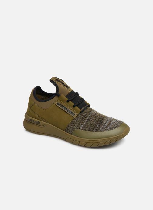 Baskets Supra Flow Run Vert vue détail/paire