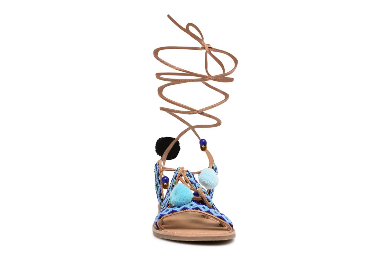 Sandalias L'Atelier Tropézien Nina Azul vista del modelo