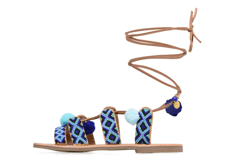 Sandalias L'Atelier Tropézien Nina Azul vista de frente