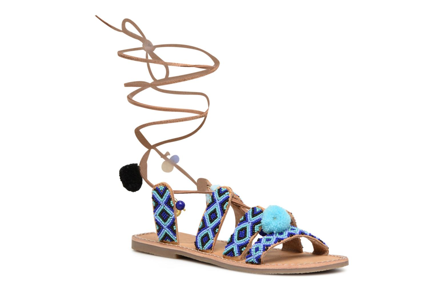 Sandals L'Atelier Tropézien Nina Blue detailed view/ Pair view