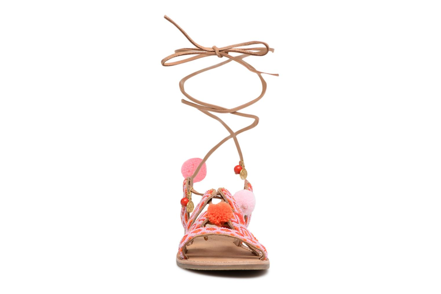 Sandals L'Atelier Tropézien Nina Pink model view