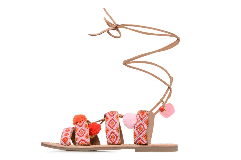 Sandalen L'Atelier Tropézien Nina rosa ansicht von vorne