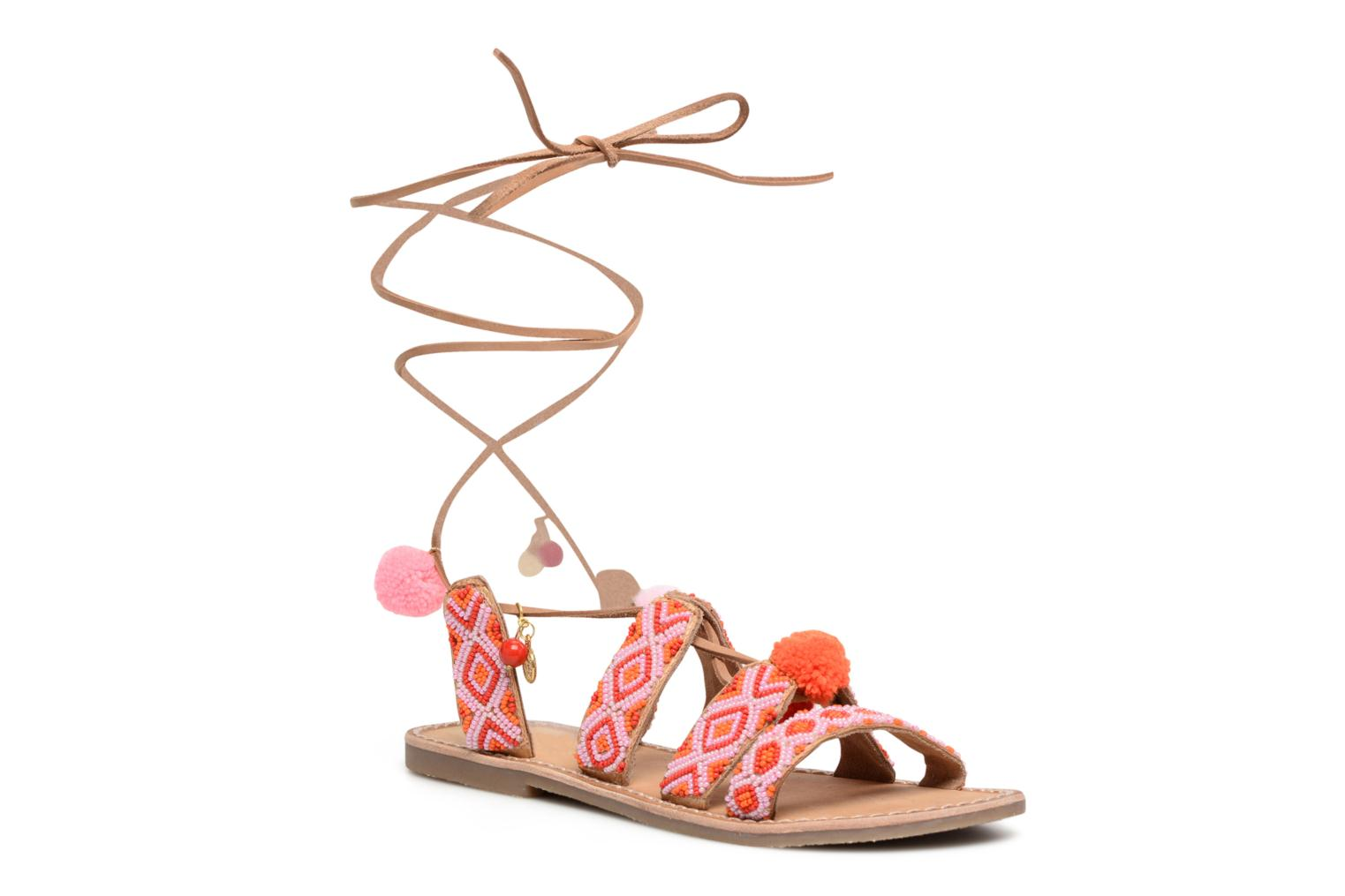 Sandals L'Atelier Tropézien Nina Pink detailed view/ Pair view