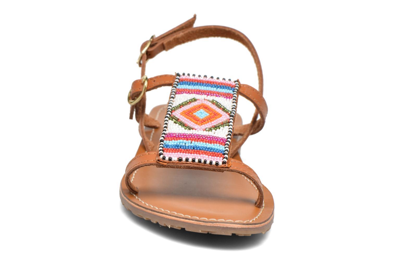 Sandalen L'Atelier Tropézien Laura braun schuhe getragen