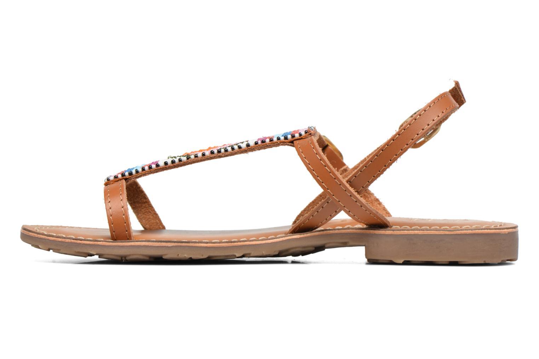 Sandalen L'Atelier Tropézien Laura braun ansicht von vorne