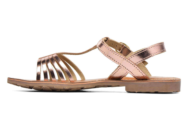 Sandales et nu-pieds L'Atelier Tropézien Margot Or et bronze vue face