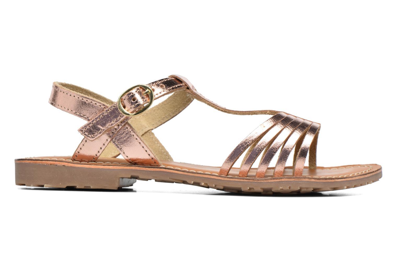Sandales et nu-pieds L'Atelier Tropézien Margot Or et bronze vue derrière