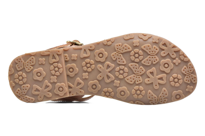Sandales et nu-pieds L'Atelier Tropézien Margot Or et bronze vue haut
