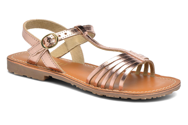 Sandales et nu-pieds L'Atelier Tropézien Margot Or et bronze vue détail/paire