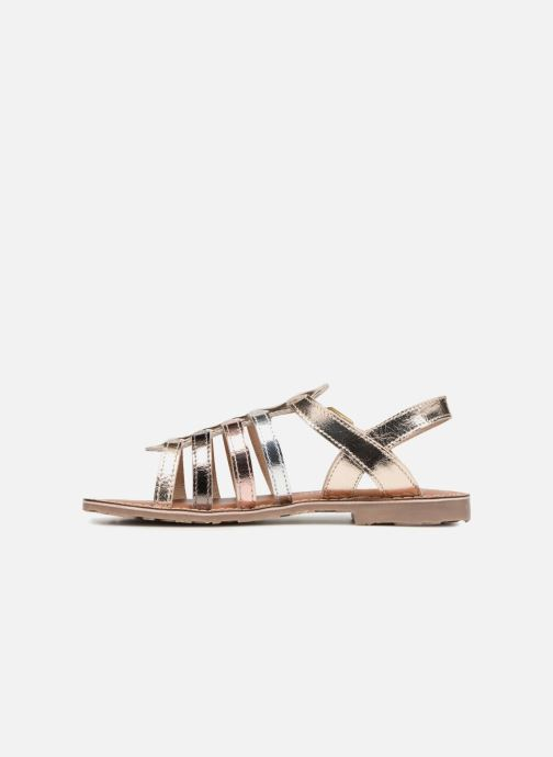 Sandals L'Atelier Tropézien Mathilde Bronze and Gold front view