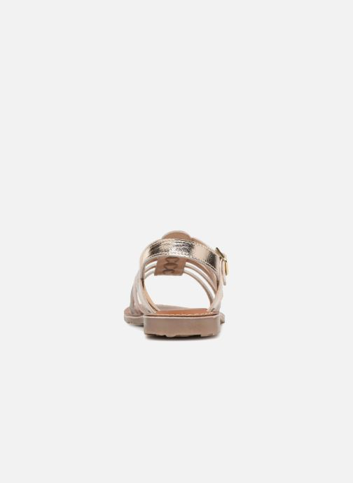 Sandals L'Atelier Tropézien Mathilde Bronze and Gold view from the right