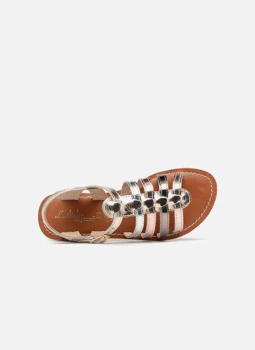 Sandales et nu-pieds L'Atelier Tropézien Mathilde Or et bronze vue gauche