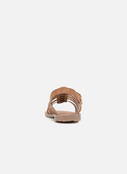 Sandales et nu-pieds L'Atelier Tropézien Mathilde Marron vue droite