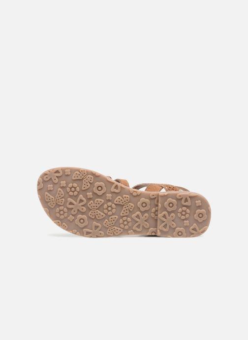 Sandales et nu-pieds L'Atelier Tropézien Mathilde Marron vue haut