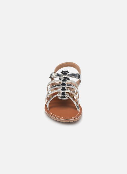 Sandales et nu-pieds L'Atelier Tropézien Mathilde Argent vue portées chaussures