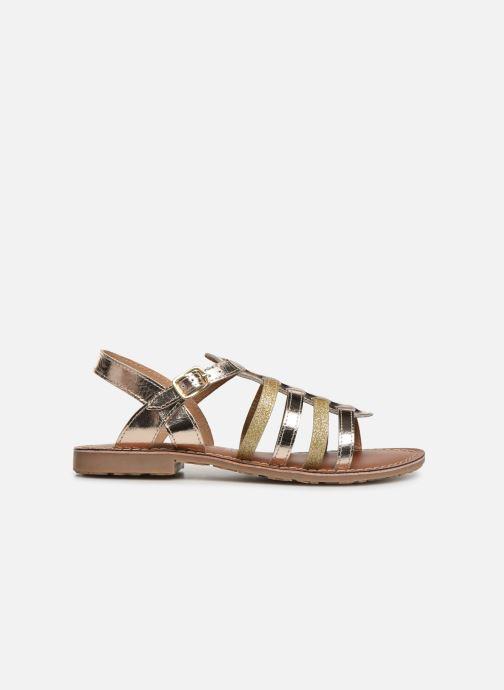 Sandales et nu-pieds L'Atelier Tropézien Mathilde Or et bronze vue derrière