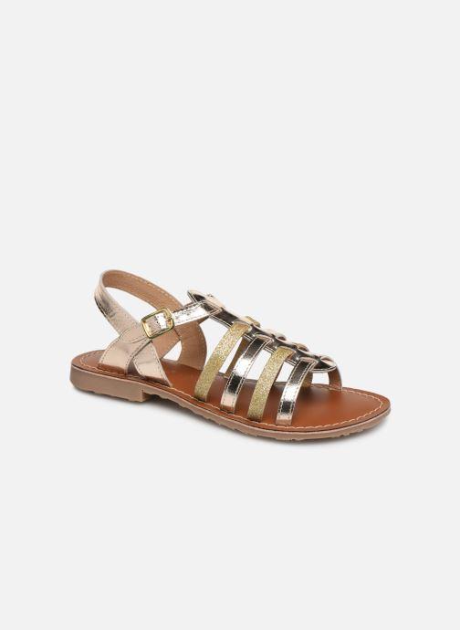 Sandales et nu-pieds L'Atelier Tropézien Mathilde Or et bronze vue détail/paire