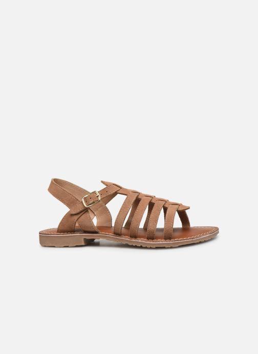 Sandales et nu-pieds L'Atelier Tropézien Mathilde Marron vue derrière